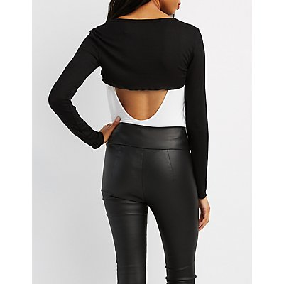 Ribbed Extreme Crop Top