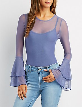 Mesh Bell Sleeve Bodysuit