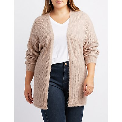 Plus Size Open Front Cardigan Sweater
