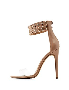 Studded Ankle Two-Piece Dress Sandals