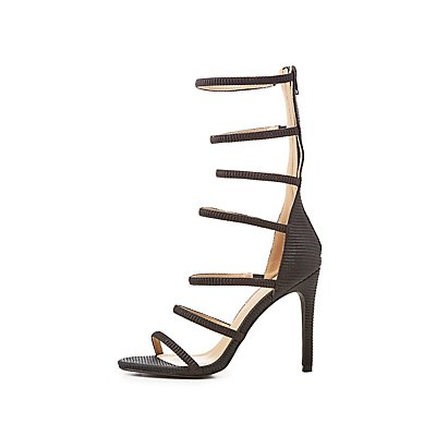 Textured Tubular Dress Sandals