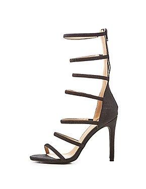 Textured Tubular Dress Sandals
