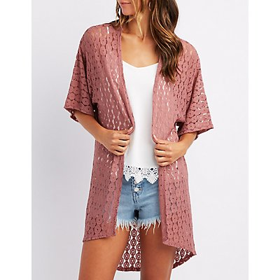 Crochet Open-Front Kimono