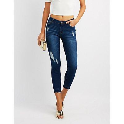 Released Hem Destroyed Skinny Jeans