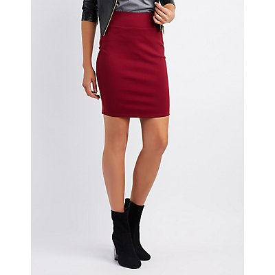 Ponte Knit Bodycon Skirt