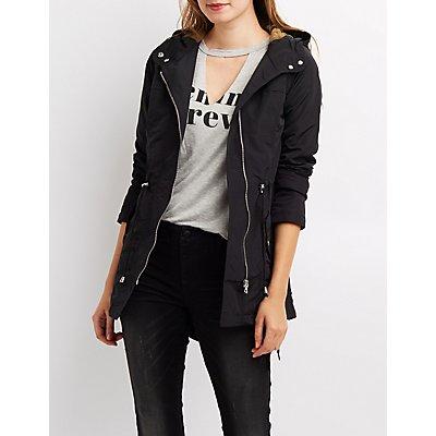 Coated Anorak Hooded Jacket
