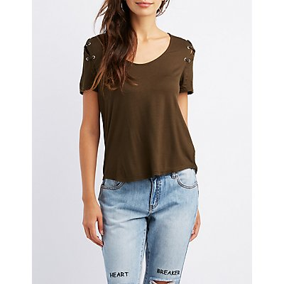 Lace-Up Boyfriend Tee