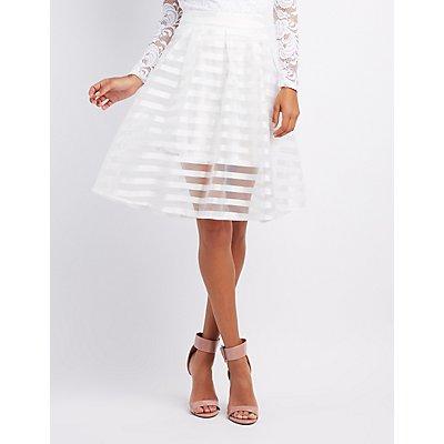 Shadow Stripe Tulle Skirt