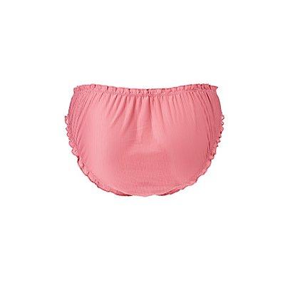 Plus Size Ruffle-Trim Hipster Panties