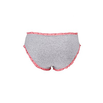 Plus Size Ruffle-Trim Hipster Panties