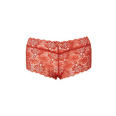Plus Size Scalloped Lace Boyshort Panties