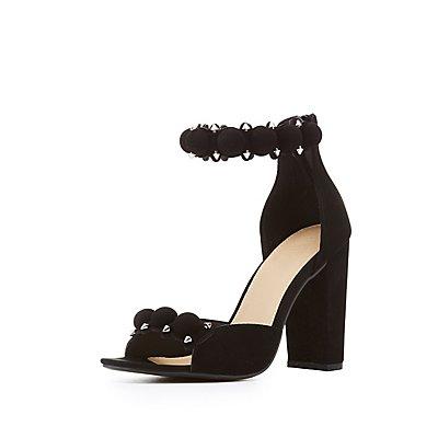 Bauble Ankle Strap Sandals