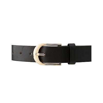 Faux Leather Heartbreaker Belt