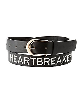 Plus Size Faux Leather Heartbreaker Belt