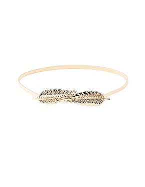 Plus Size Metal Coiled Leaf Belt