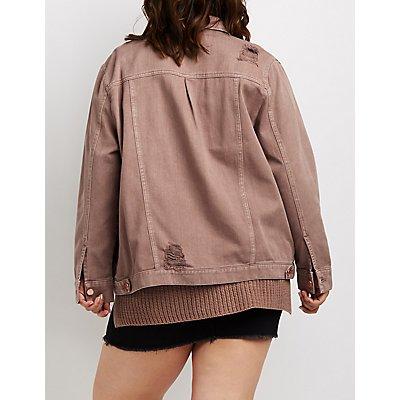 Plus Size Refuge Oversize Colored Denim Jacket