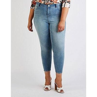 Plus Size Refuge Faded Skin Tight Legging Jeans