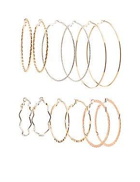 Hoop Earrings - 6 Pack