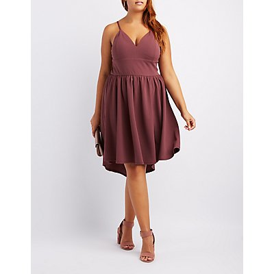 Plus Size High-Low Skater Dress