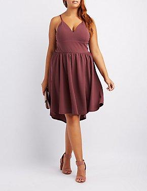 Plus Size High-Low Skater Dress