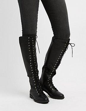 Lace-Up Combat Boots