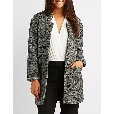 Tweed Open-Front Coat