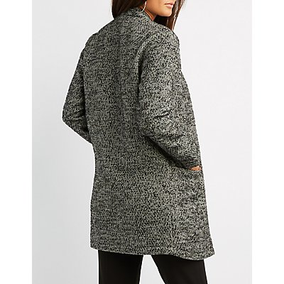 Tweed Open-Front Coat