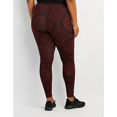 Plus Size Boho Print Leggings