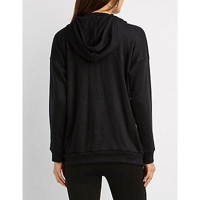 Cut-Out Hooded Sweatshirt