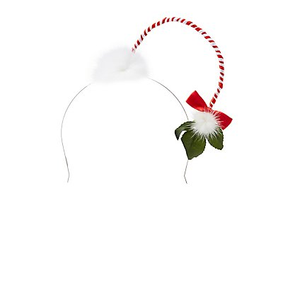Striped Mistletoe Headband