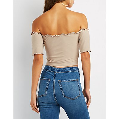 Lettuce Edge Off-The-Shoulder Top