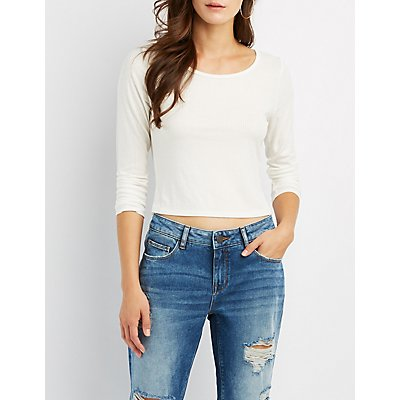 Ribbed Fitted Crop Top