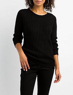 Destroyed Shaker Stitch Sweater