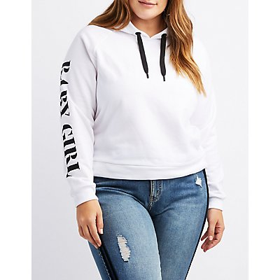 Plus Size Baby Girl Hooded Sweatshirt