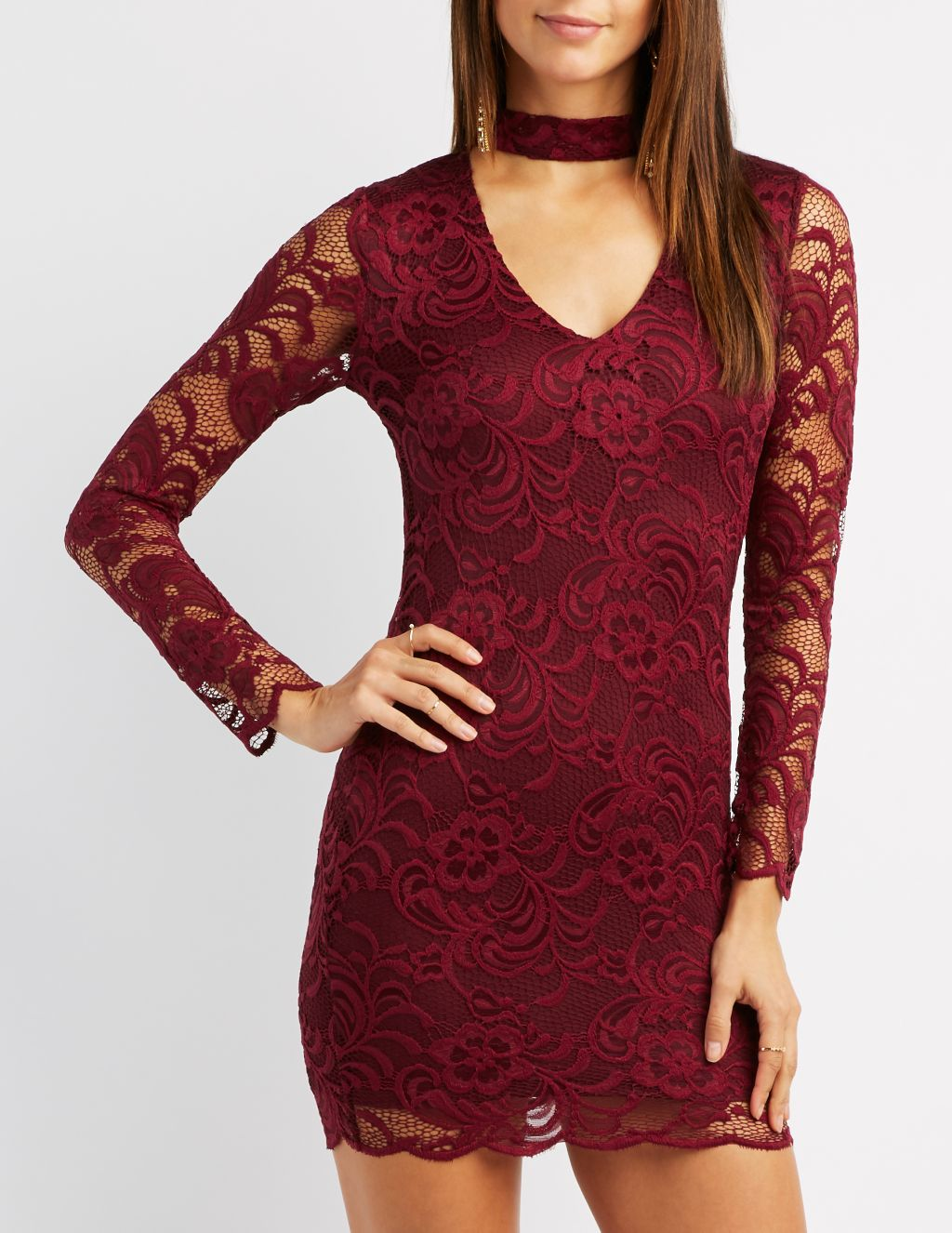 A cute red holiday dress like this one is perfect for your next party!