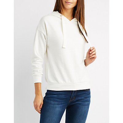 Lace-Up Back Hoodie