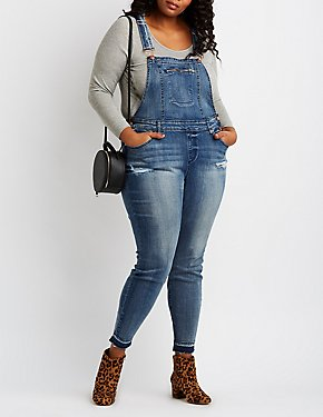 Plus Size Refuge Released Hem Overalls