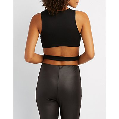 Wrapped Open-Back Crop Top