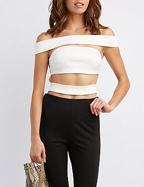 Off-The-Shoulder Banded Illusion Top