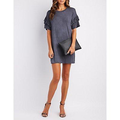 Ruffle-Trim T-Shirt Dress