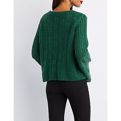 Bell Sleeve Pointelle Sweater