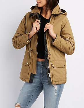 Anorak Hooded Sherpa Jacket