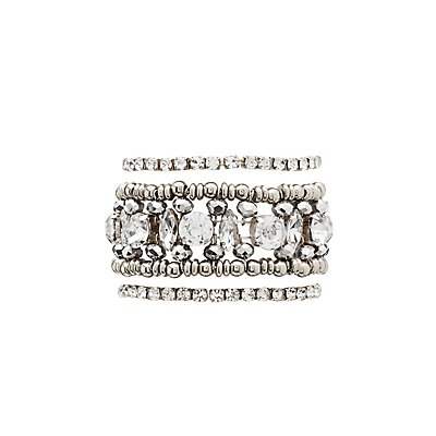 Embellished Stretch Bracelets - 3 Pack