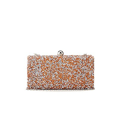 Rhinestone Convertible Box Clutch