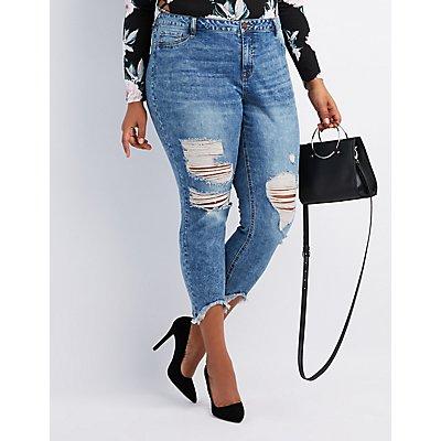 Plus Size Refuge Destroyed Skinny Jeans Leggings