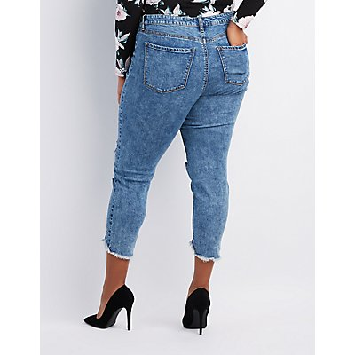 Plus Size Refuge Destroyed Skinny Jeans Leggings