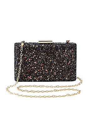 Glitter Convertable Box Clutch