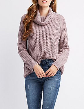 Cow lNeck Shaker Stitch Sweater
