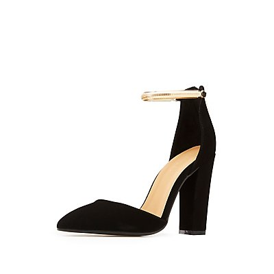Bamboo Chain-Trim D'Orsay Pumps
