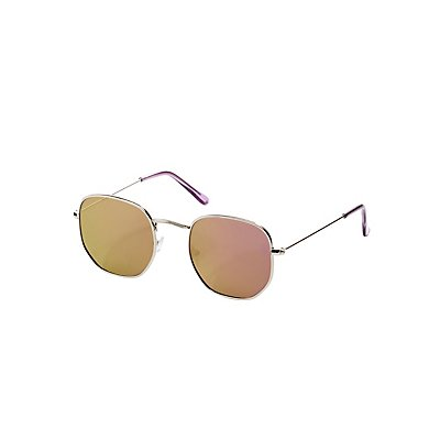 Metal-Trim Retro Sunglasses